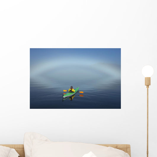 A Sea Kayaker Paddles Wall Mural
