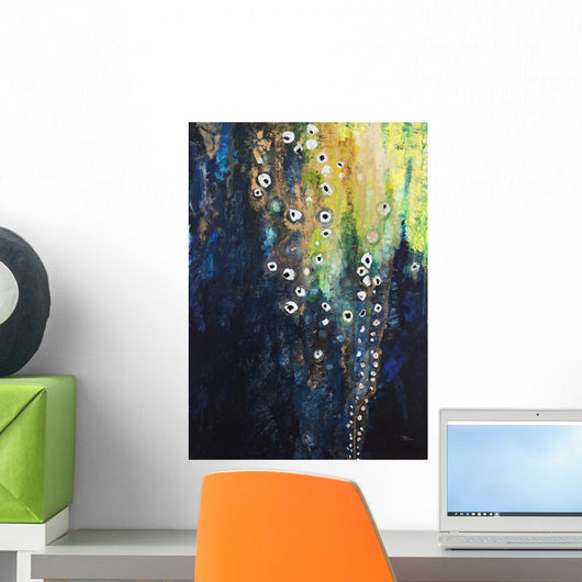 Abstract watercolor painting Wall Mural