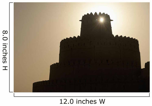 Silhouette Of Al Jahili Fort Wall Mural