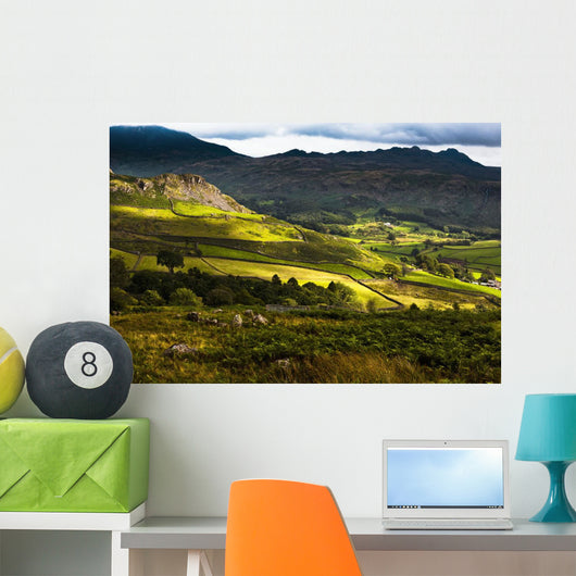 Langdale Hills Of Western Lake District Wall Mural