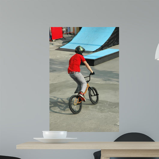 Bicycle Stunt Wall Mural