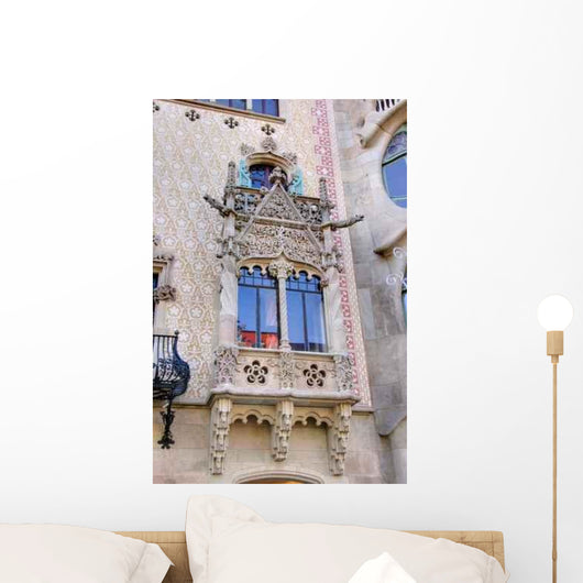 Detail House Front Gaudi Wall Decal