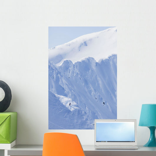 Backcountry Skiing In The Chugach Mountains In Late Winter Wall Mural