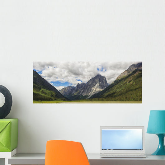 Panoramic Of Mount Harrison Smith In The Cirque Of The Unclimbables Wall Mural