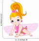 Fairy With Flowers Wall Decal