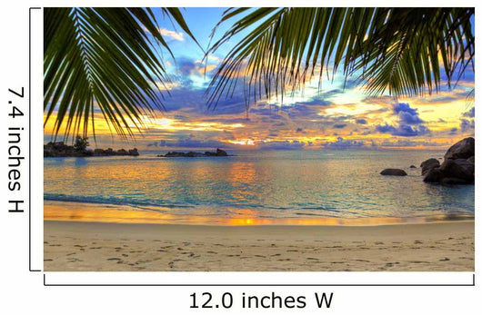 Tropical Beach at Sunset Wall Mural