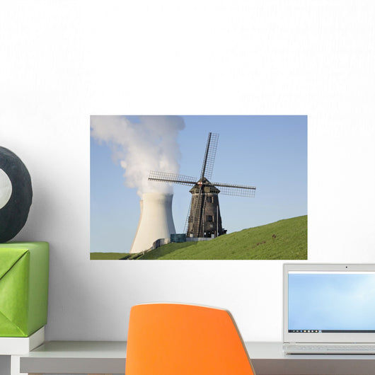 wind and nuclear energy Wall Mural