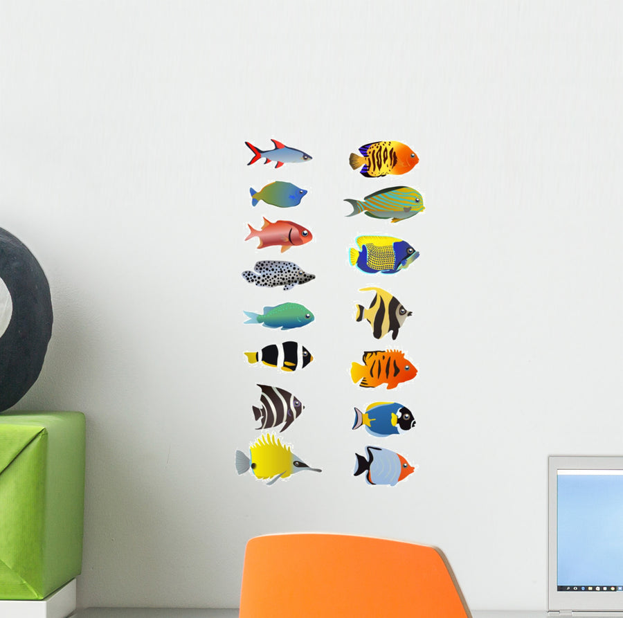 Products tagged small wallmonkeys wall decals 15 different fish wall decal amipublicfo Gallery