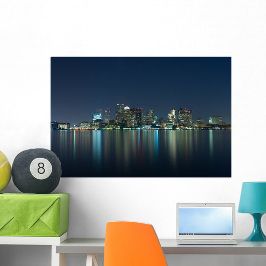 Boston Skyline Wall Mural