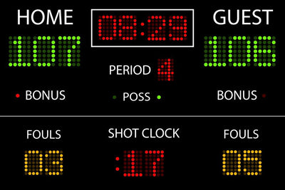 Vector Basketball Scoreboard Wall Mural
