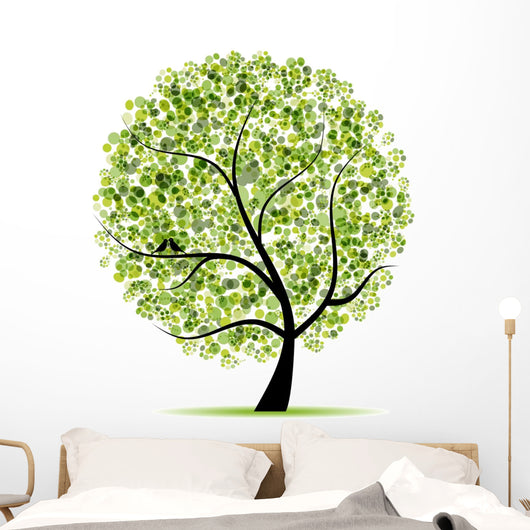Art Tree Beautiful for Your Design Wall Decal