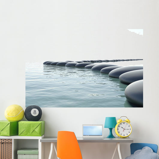 Zen Turbulent Water Wall Mural