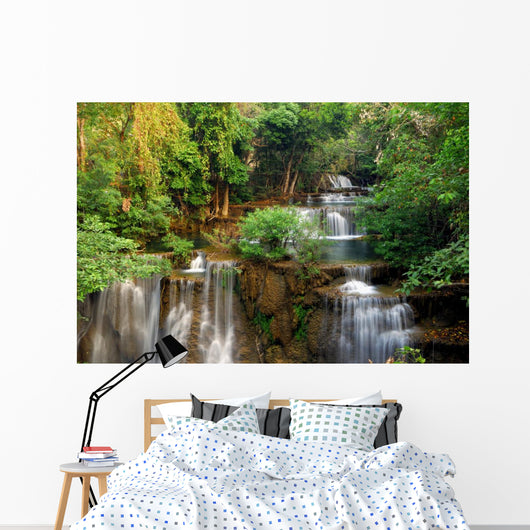 Water Fall in Deep Forest Wall Mural