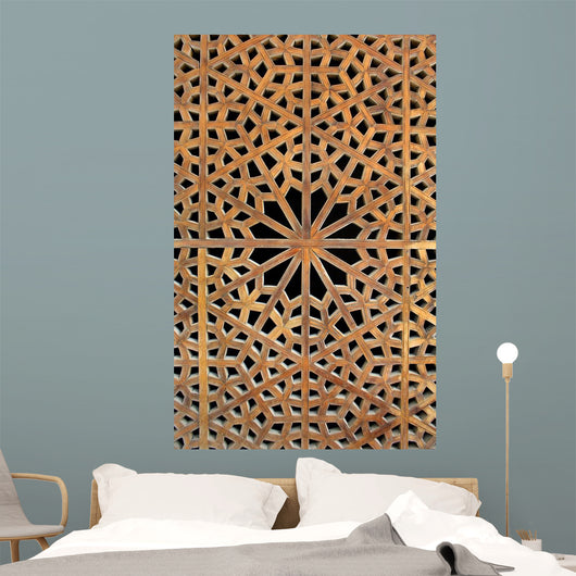 Old wooden latticework Wall Mural