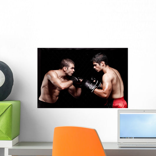 Mixed martial artists before a fight Wall Mural