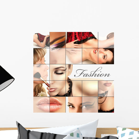 fashion collage Wall Mural