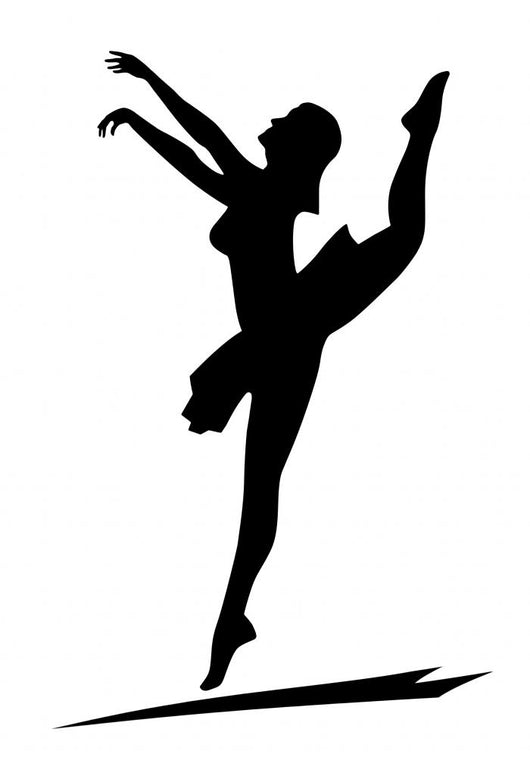 Dancing Girl Silhouette Wall Decal