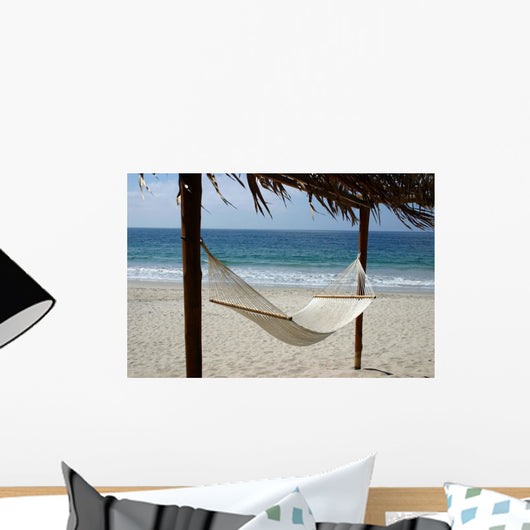 Inviting Hammock on the Beach Wall Mural