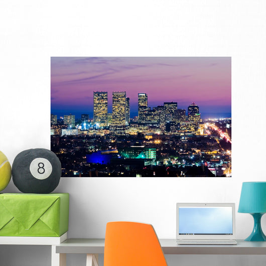 Los Angeles Skyline at Dusk Wall Mural