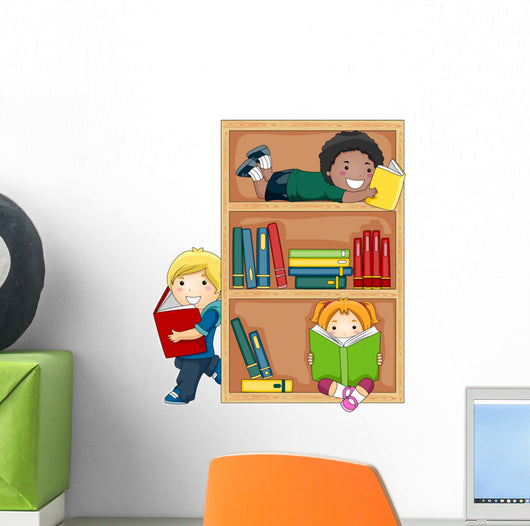 Reading Books Wall Decal