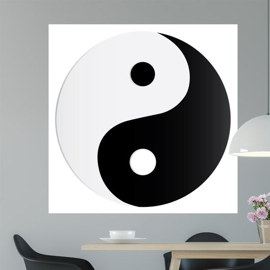 Yin Yang Symbol Wall Decal