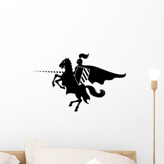 Knight on horse Wall Decal