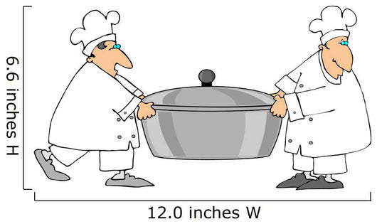 Two Chefs Carrying a Large Pot Wall Decal