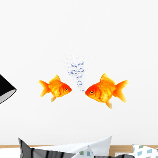 Golden Fish Breathing Wall Mural