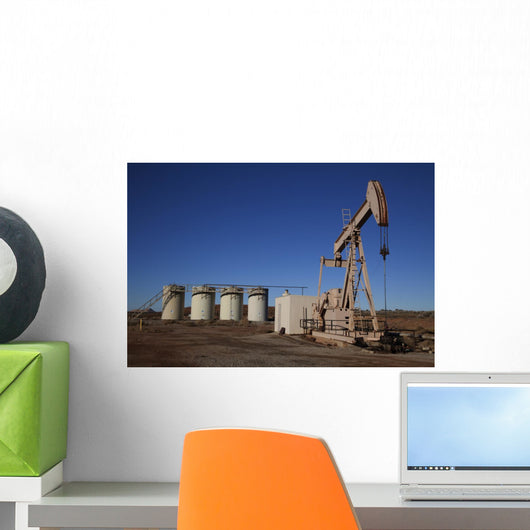 Oil Well Wall Mural