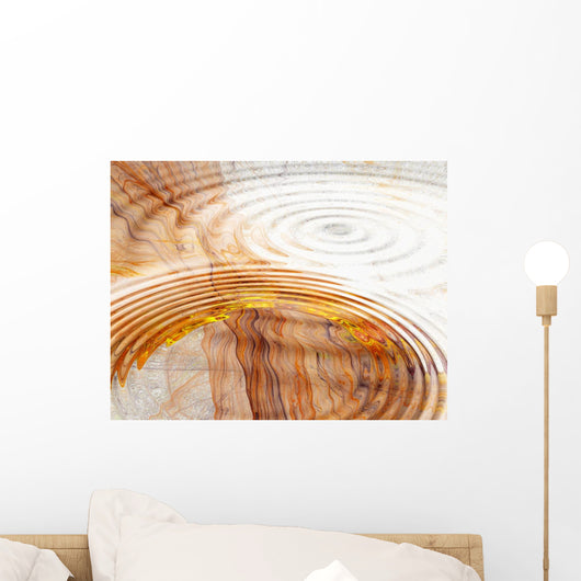 water ripples on fractal Wall Mural