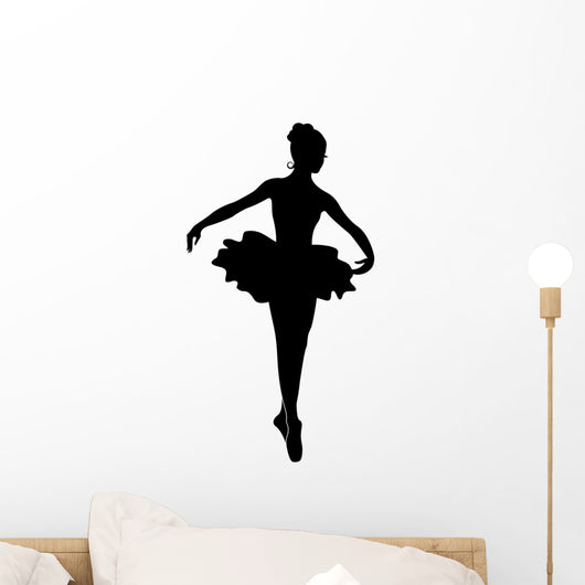 Ballerina Silhouette Wall Decal
