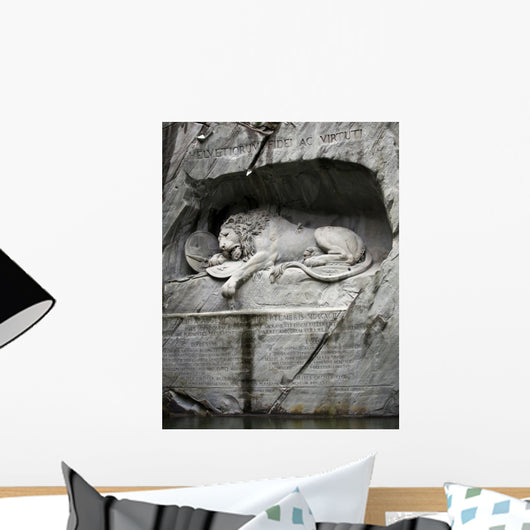 Lion of Lucerne, Switzerland Wall Mural