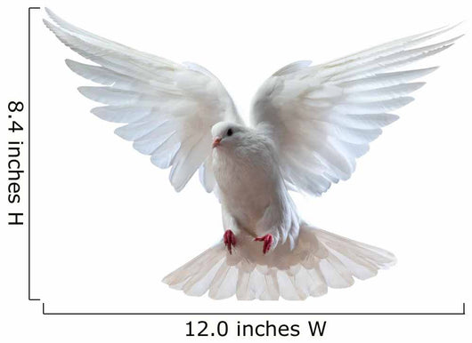 Free Flying White Dove Wall Decal