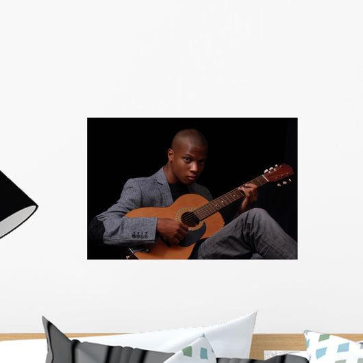 Teen Playing Guitar Wall Mural