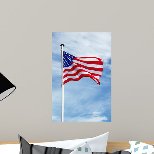 Waving American Flag Wall Mural