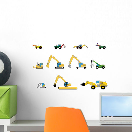 Children's toys digger Wall Decal