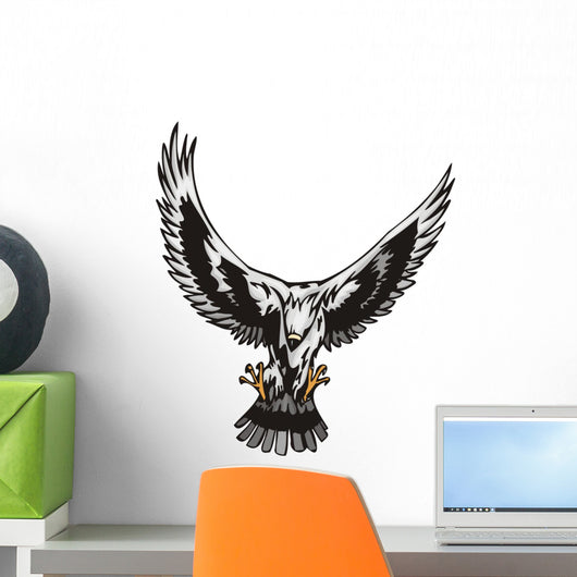 Eagle with Big White Wall Mural