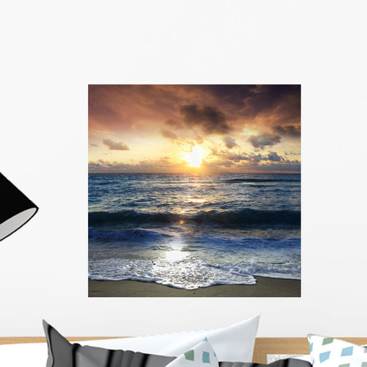 Scenic Sunrise on the Beach Wall Mural