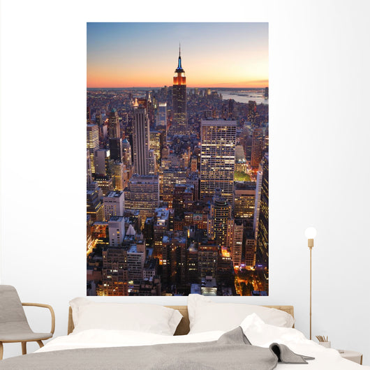 New York City Manhattan empire state building Wall Mural
