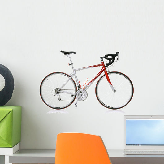 race road bike isolated on white background Wall Decal