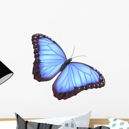Blue morpho butterfly Wall Decal