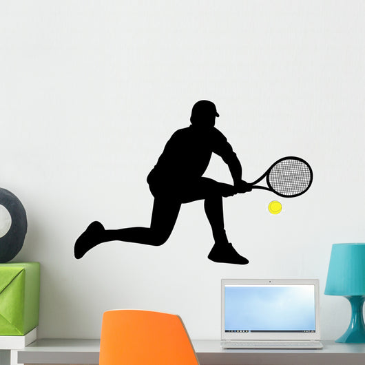 Tennis Player Silhouettes Wall Decal