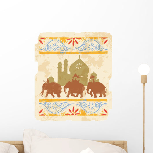 Indian elephants Wall Mural