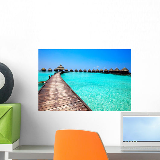 Maldives Villa on Piles on Water Wall Mural