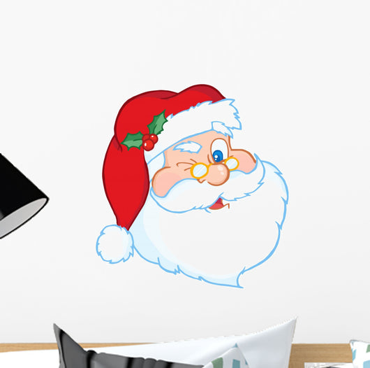 Santa Claus Winking Classic Wall Decal