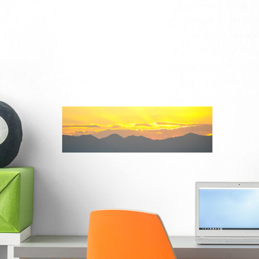 Sunset over Mountains Wall Mural