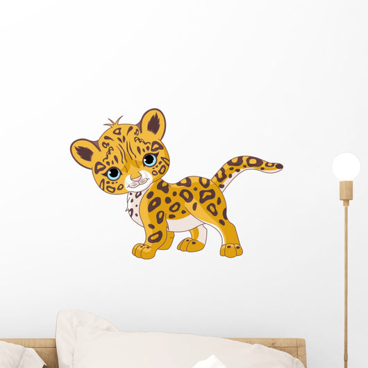 Cute Jaguar Cub Wall Decal