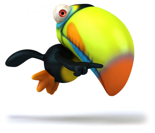 Flying Toucan Wall Decal