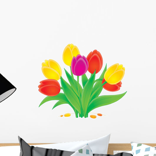 Blossoming tulips Wall Decal