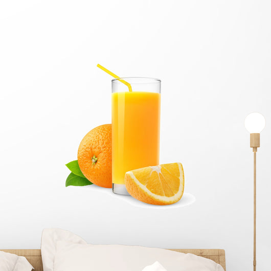 Orange juice Wall Decal